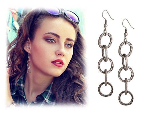 Lightweight Bohemian Turkish Hammered Earrings