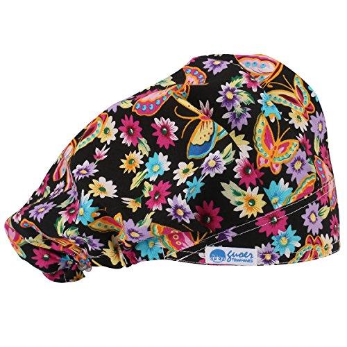 GUOER Scrub Hat Bouffant Scrub Cap One Size Multi Color (Color01)