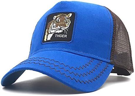 Gorra De Béisbol,Moda Tigre Bordado Animal Gorra Azul Tapa Suave ...
