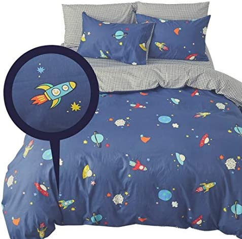 ELLE KAY Reversible Checkered Comforter