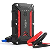 Portable Car Battery Jump Starter - 1200A Peak 12000 mAh IP68 Waterproof Emergency Advance Auto Self Starter with Quick Charge Flashlight for Drivers Cars Truckers Vehicles