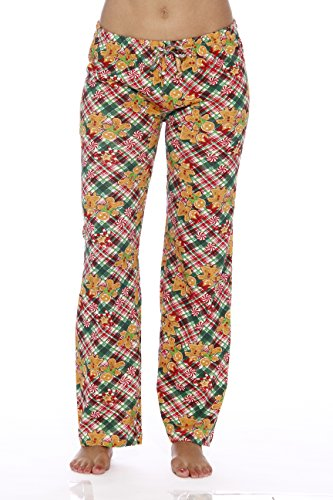 Just Love Women Pajama Pants/Sleepwear, 6324-10005, Medium, Gingerbread ()