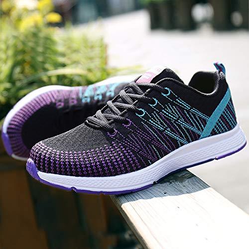 Zapatos Casuales Mujer,bbestseller Sneakers Cordones Planas Sandalias Zapatillas Con Deportivos Mujer Para Negro Cabeza 2 Running qEItzSWwf