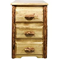 Montana Woodworks Glacier Country Collection Nightstand with 3 Drawers
