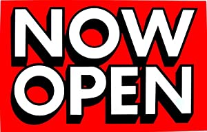 Amazon.com : Now Open Sign Business Retail Store Window : Business ...