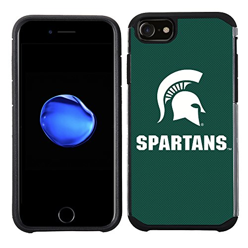 Prime Brands Group Textured Team Color Cell Phone Case for Apple iPhone 8/7/6S/6 - NCAA Licensed Michigan State University Spartans