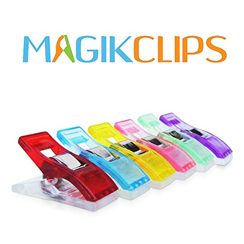 Magik Clips 100 Pack – Sewing Clips for Quilting and Crafts – Multicolored Clips