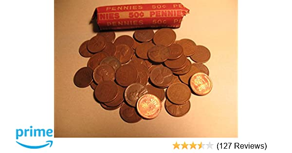 Wheat Penny Roll (50 Coins) Mixed Years & Mints Circulated Good or Better  in Coin Tube