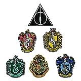 """Harry Potter Crest Set - 4"""" - Applique Iron on"""