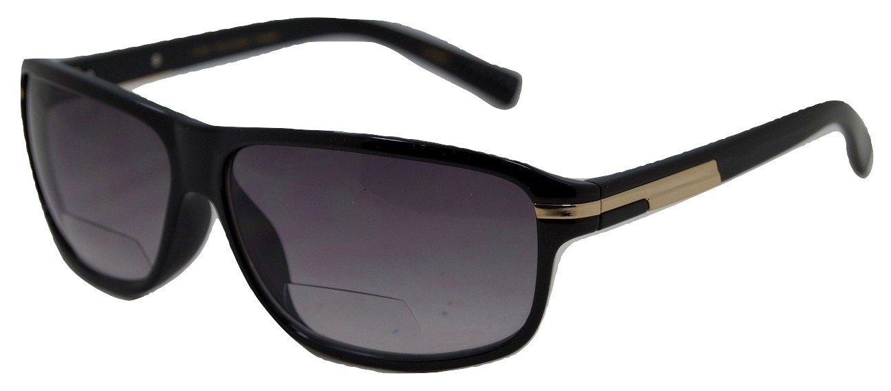 In Style Eyes First Class, Nearly Invisible Line Bifocals Sunglasses/Black/2.00 Strength by In Style Eyes