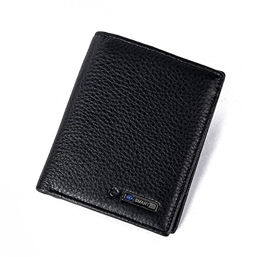 Kukoo Anti Lost Wallet Smart Bluetooth Tracking Purse Cowhide Bifold Card holder -