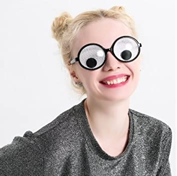 2edfd7b87c URGrace 1PCS Funny Googly Eyes Goggles Shaking Eyes Party Glasses ...