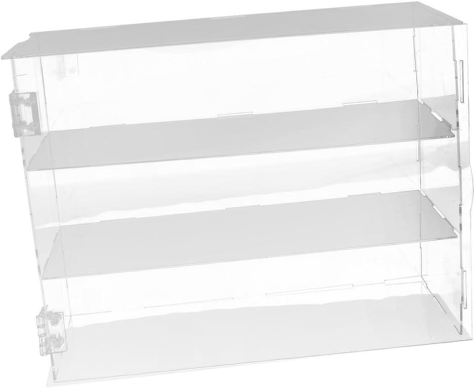 NON Sharplace Vitrina Exhibitor de Acrílico para Figura Juguete Perfume Colección - 24x24x30cm (Cada Capa 10 cm Alto)