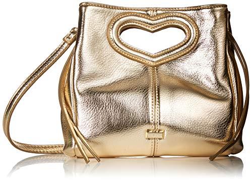 Betsey Johnson Open Heart Crossbody, Gold (Handbags With Hearts)