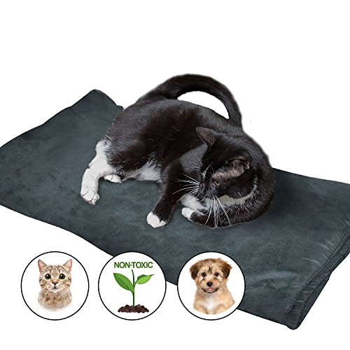 Large Thermal Pet Bed Mat by Easyology - Self Warming Crate Pad for Dogs and Cats - Reflective Core and Non Electric - 100% Pet Friendly (31.5