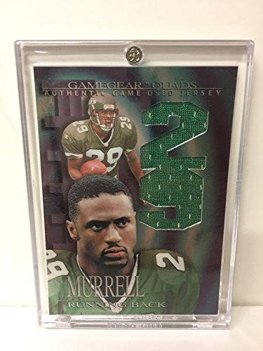 Adrian Murrell New York Jets 1997 Jersey Swatches Football Trading Card! Collector's Edge Game Gear Quads Authentic Game Used Jersey - Edge Quad