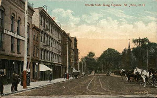 North Side King Square Saint John, New Brunswick Canada Original Vintage - Brunswick New Square