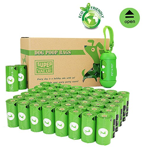 PET N PET Biodegradable Poop Bags Environmental Friendly Dog Waste Bags Unscented with One Dispenser 48 Rolls/720 Counts