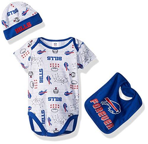 Gerber Childrenswear NFL Buffalo Bills Boys Bodysuit Bib   Cap Set ... e3a26e293