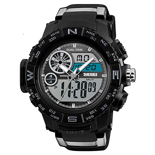Skmei Analog Digital Shock Resistant Chronograph Sports Watch for Men and Boys