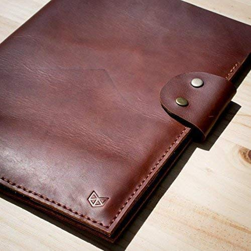 Capra Leather Document Folder Men, Red Brown A4 File Holder Handmade Portfolio Legal Pad, Business Work Organizer. Letter Folio. Mens Gift