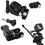 CAMZON Sportsman Mount Universal Clamp Clip Mount for Gun / Fishing Rod / Bow Fixing for GoPro Hero 5 4 3 2 SJCAM SJ4000 SJ5000 SJ6000 Sports Action Cameras (Black)