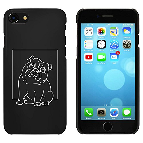 Noir 'Carlin' étui / housse pour iPhone 7 (MC00064995)