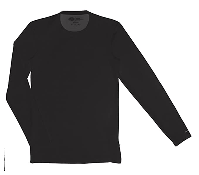 00dc35c9ff4 Dickies Medical Scrubs 81925 Men Men's Long Sleeve Crew Neck Shirt Black  5X-Large