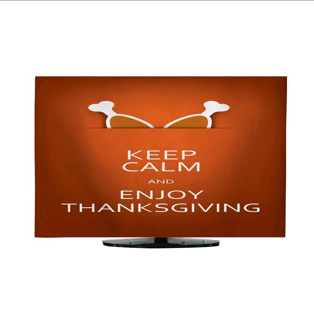 ファブリック TV ダストカバー 面白いポスター 感謝祭 ラマとパンプキンズ30/32 50