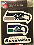 NFL Seattle Seahawks Team Decal – Pack of 3, Green, Standard