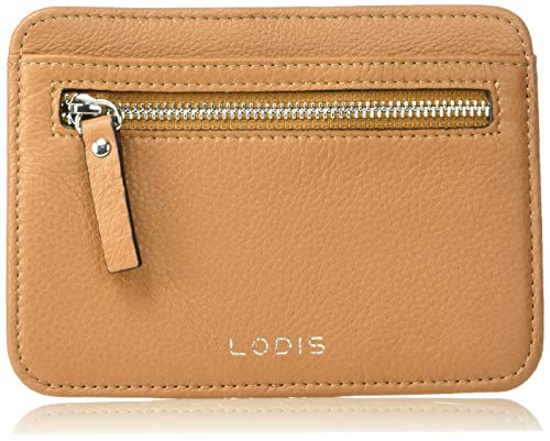 Lodis RFID Slim Leather Card Case, toffee