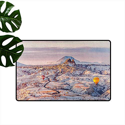 Winter,Floor Mats Cappadocia Turkey Landscape with Hot Air Balloons Anatolia Valley Geology Tourism 16