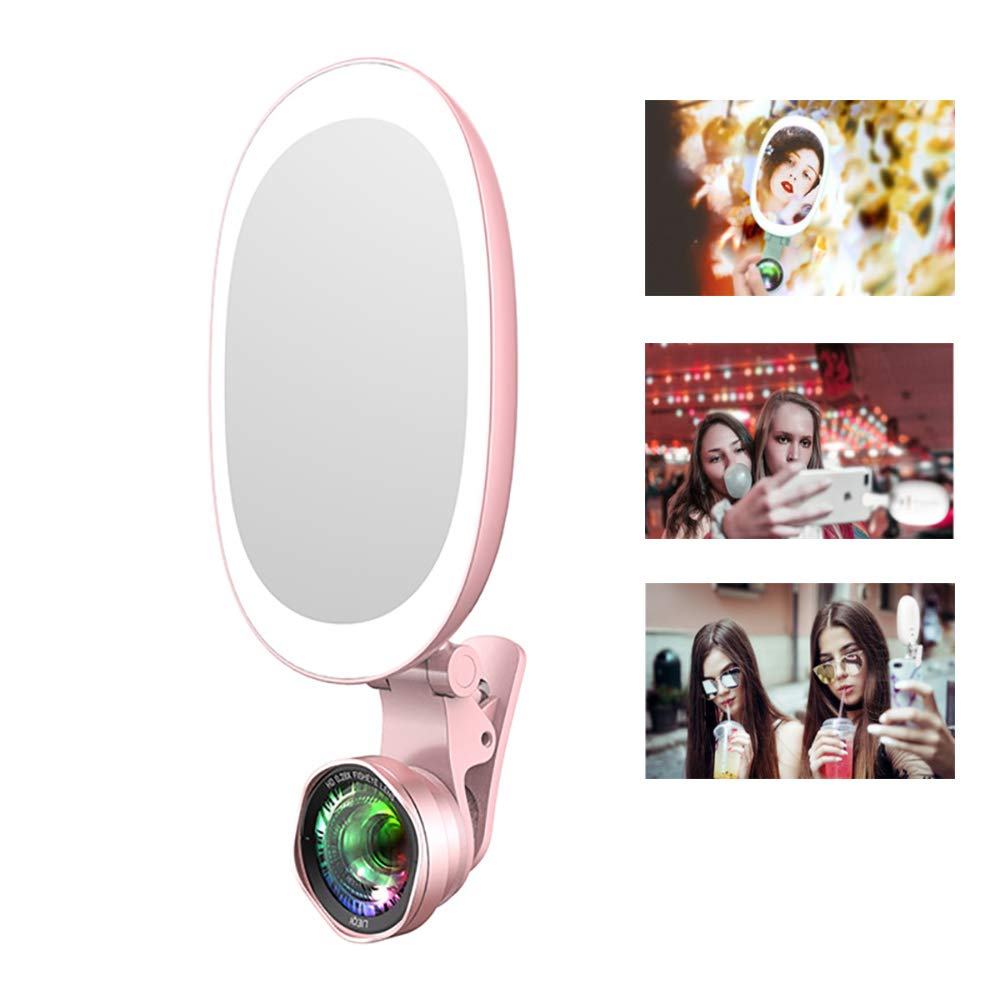 Spotlight Flash Selfie Light, Ring Cell Phone Camera Fills Bright Video Light Lamp Mobile -Wide-Angle Macro Mobile Phone Lens Beauty Fill Light by LINLIN
