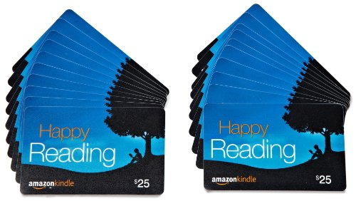 - Amazon.com $25 Gift Cards, Pack of 20 (Amazon Kindle Card Design)