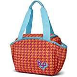 BYO by BUILT NY Nosh Insulated Lunch Bag, Houndstooth Pink
