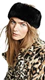 Adrienne Landau Women's Rex Rabbit Fur Headband, Black, One Size