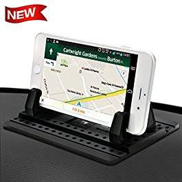 Cell Phone Holder for Car – FITFORT Universal Silicone Anti-Slip Car Phone Mount GPS Holder Mounting in Vehicles Pickup…