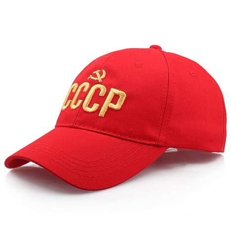 ENGXING URSS Gorra de béisbol Rusa Hip Hop Rapero bailarín Letra ...