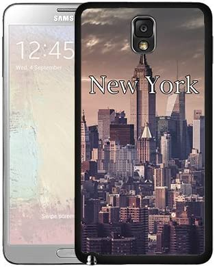 New York City Wallpaper Samsung Galaxy Note Iii 3 N9000 Hard Snap On Phone Case Cover Amazon Co Uk Electronics