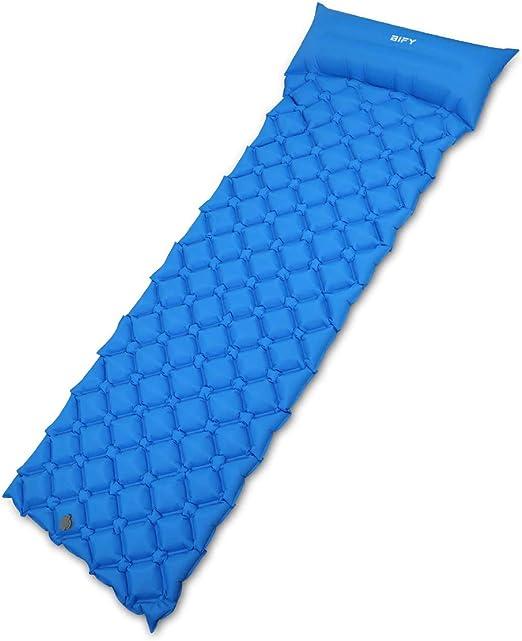 BIGTREE Inflatable Compact Camping Sleeping Pad Hiking Air Mattress Blue