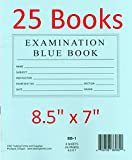 """CNC INC 8.5"""" x 7"""" Examination Blue Book 8 Sheet 16 Pages 25 pack"""