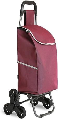LQBDJPYS - Bolsa para Escalera de Compras, Plegable, portátil, Acolchada, Impermeable, de aleación de Aluminio, con Ruedas silenciosas, soporta hasta 50 kg de Peso: Amazon.es: Hogar