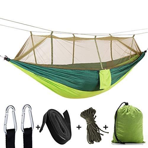 CHSSC Travel Bug Net Camping Hammock | 200kg Load Capacity Quick-Drying Parachute Nylon Hiking Hunting Fishing Garden and Patio (Size : 260 x 140 cm)