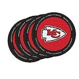 NFL Kansas City Chiefs Neoprene Ring of Honor Coasters, Set of 4