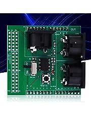 Placa adaptadora MIDI, puerto serie a módulo MIDI Módulo de protección MIDI Módulo MIDI Adaptador de interfaz digital Conexión fácil para instrumentos de medición electrónicos