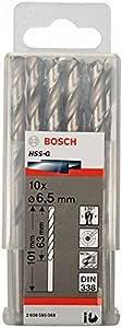 Bosch 2608595068 Metal Drill bits HSS-G, DIN 338, Silver, 6.5 mm