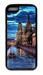iPhone 5C Case, Personalized Custom Design iPhone 5C Soft Rubber TPU Black Russia Case Cover