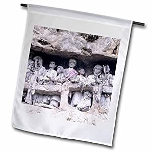Danita Delimont - Tombs - Indonesia, Sulawesi, Tau tau, cave tombs-AS11 JME0121 - John and Lisa Merrill - 12 x 18 inch Garden Flag (fl_75731_1)
