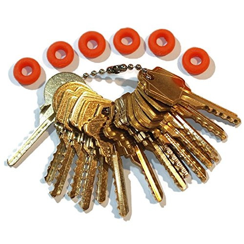 MSPowerstrange Professional Commercial 15 Keys Depth Key Set with Bump Rings