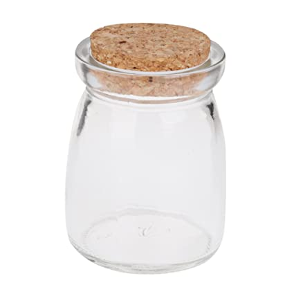 33e14ea166f3 Mini Round Glass Favor Storage Jars Bottle Containers with Cork Gifts